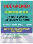 Lire la suite: Vide grenier 01 Mai au Boila